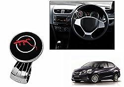 Speedwav Lizard Car Steering Wheel Power Holder Spinner Knob RED-Honda Amaze Old