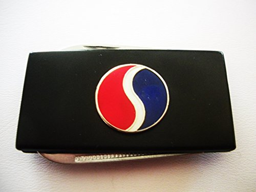Studebaker Black Stainless Steel Money Clip With Knife & Nailfile In Body Of Clip
