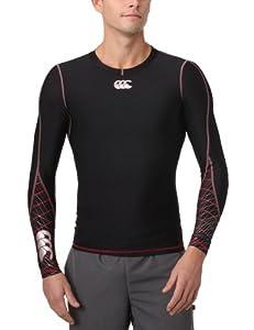 Canterbury Men's Mercury TCR Compression Long Sleeve Top, Black- Small