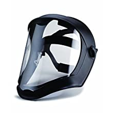 Uvex S8510 Bionic Shield, Black Matte Face Shield, Clear Polycarbonate Anti-Fog/Hardcoat Lens