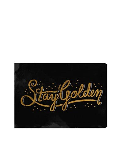 """Oliver Gal """"Stay Golden"""" Canvas Art"""