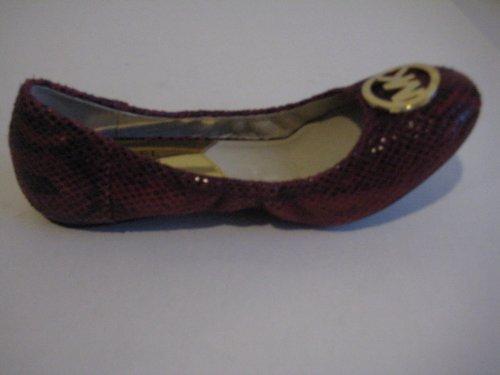 MICHAEL Michael KorsMichael Kors Fulton Ballet Cinnabar Embossed Leather Womens Size 9 M