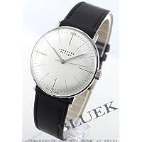 [ユンハンス]JUNGHANS 腕時計 マックスビル 手巻き レザー ブラック/シルバー ボーイズ 027/3700.00 [並行輸入品]