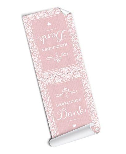 4-BANDEROLEN-GRO-Herzlichen-Dank-4-schne-selbstklebende-Aufkleber-Verschlussetiketten-in-rosa-im-Vintage-Retro-Design-zum-zu-kleben-und-verschnern-von-Geschenktten-die-mit-selbst-gebackenen-Cookies-Mu
