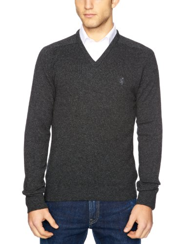 Pringle Classic V-Neck Men's Jumper Charcoal Large