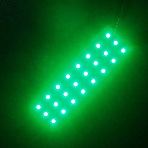 Vktech Super Bright 4 Light Color 12V 42 Led Piranha Panel Board Lamp Lighting (Green)