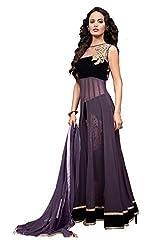 Sanjana Design Women's Stylist Western Purple Gown Unstitch Anarkali Suit (SD2994_Free Size_Purple)