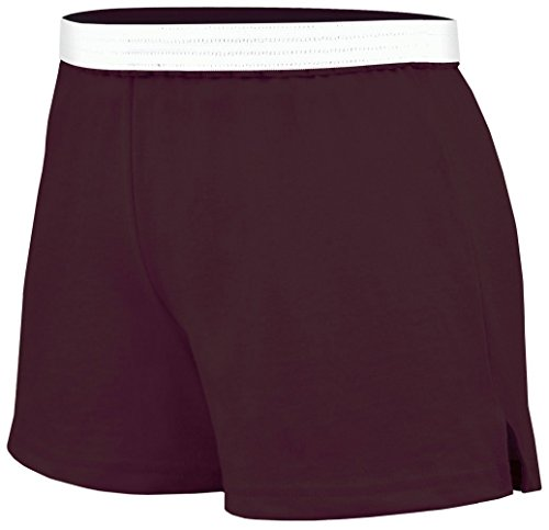 Practice Knit Cheerleading Shorts Brown Large Jersey Knit Cheer Shorts