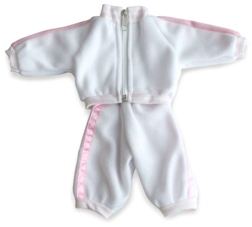 Miniland 2-piece Pink and White Tracksuit for 12.63'' Baby Dolls