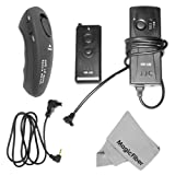 4 Pcs Kit For CANON 40D 50D 7D - Includes: IR Wireless Remote Control+ Remote Switch Control + 1 Ultra Fine Microfiber Cleaning Cloth GOJA Logo