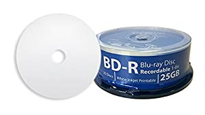 DIGISTOR 25GB 6X Blu-ray Disc Recordable BD-R Blank Media, White Inkjet Printable Surface (25 pack)