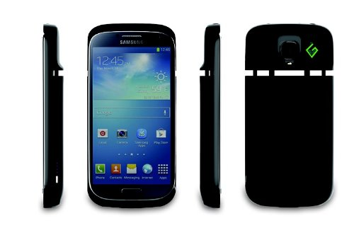 Greener Visions Brand New!! Samsung Galaxy S4 Solar Powered Charging Case Black Diesel Color