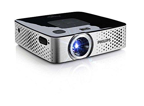 Philips PPX3417W - Proyector de bolsillo LED inalámbrico (170 lúmenes, 4 GB, USB, micro SD)
