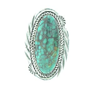 Genuine Turquoise Navajo made Sterling-silver Women's Ring