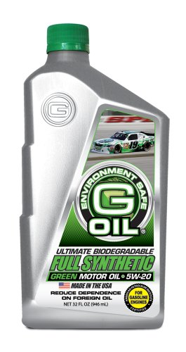 Green Earth Technologies 1654 G Oil 5w 20 Ultimate Biodegradable Full Synthetic Green Motor Oil