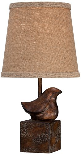 Bird Moderne Crackle Finish Small Accent Lamp front-1049375