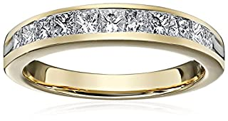 Princess Channel In 14k Yellow Gold Wedding Band (3/4cttw, H-I Color, I1-I2 Clarity), Size 7