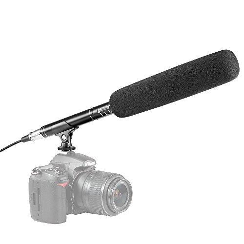 Neewer 14,37 Zoll Kamera Camcorder/Shotgun Interview Fotografie MIC Kondensator Mikrofon für Canon Nikon Sony Olympus Pentax Panasonic und andere HDSLRs DV Camcoders