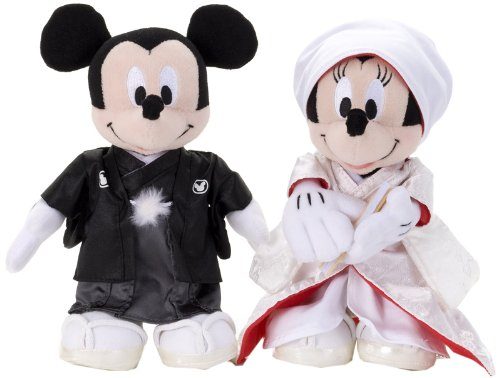 【Amazonの商品情報へ】ディズニー ブライダル ミッキーマウス&ミニーマウス 和装 S