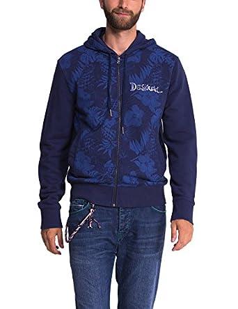 Blue Pacific Sweat shirt À capuche Manches longues Homme