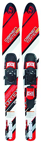 O'Brien Vortex Combo Water Skis with 700 Bindings, Red, 65.5""