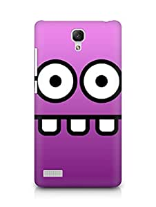 Amez designer printed 3d premium high quality back case cover for Xiaomi Redmi Note (funny face teeth)