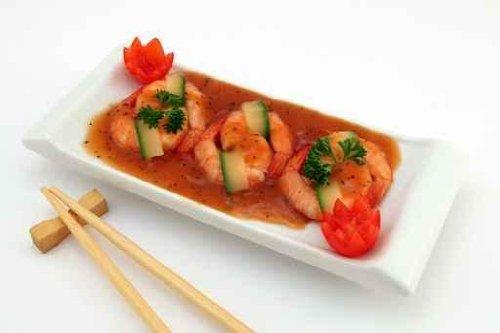 Gourmet King Prawn Shrimp with Chinese Chop Sticks - 72