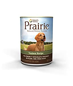 Prairie Venison Recipe with Millet Canned Dog Food by Nature's Variety, 13.2-Ounce Cans (Pack of 12)