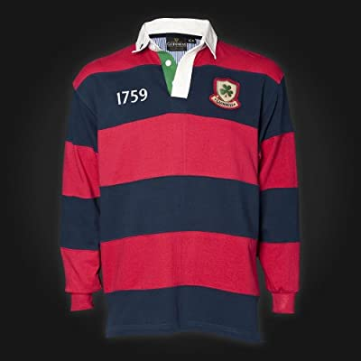 Guinness Red Navy Stripe Crest Rugby