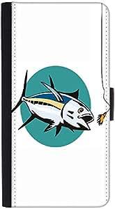 Snoogg Albacore Tuna Fish Retro Designer Protective Flip Case Cover For Htc O...