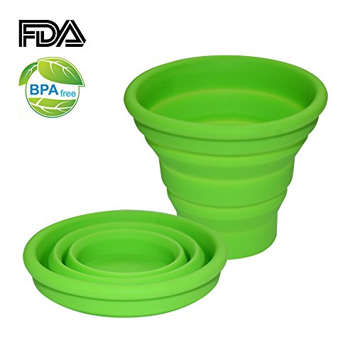 Ecoart Silicone Collapsible Travel Cup for Outdoor Camping and Hiking, Green (1 Pack) (Backpacking Espresso compare prices)