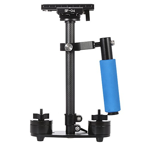 Andoer SF-04 40cm Handheld Stabilizer Carbon Fiber Video Camera Mini Grip with Quick Release Plate for Canon Nikon Sony Pentax DSLR Camcorder DV