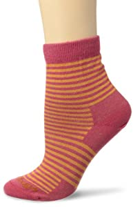 Darn Tough Vermont Women's Mini Stripe Shorty Light Cushion Hiking Socks, Apricot, Small