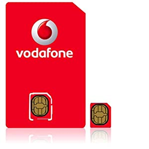 Vodafone Uk Pay As You Go Micro SIM Card Suitable for Iphone4 and Many Other Smart Phones