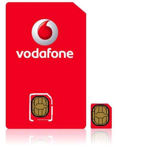 UK United Kingdom MICRO SIM Karte on the Vodafone Network for iphone 4