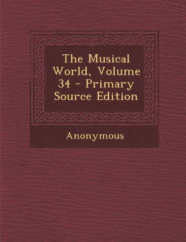 The Musical World, Volume 34