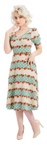 Voodoo Vixen corda dell'abito FLOWER DRESS DRA2331 verde Small