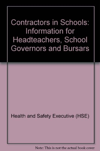 Contractors in Schools: Information for Headteachers, School Governors and Bursars PDF