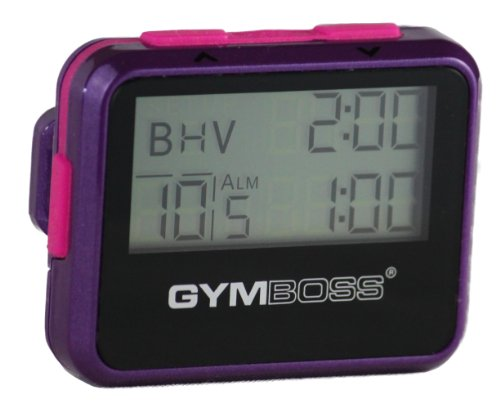Gymboss Interval Timer and Stopwatch VIOLET / PINK METALLIC GLOSS