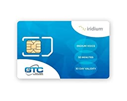 Iridium Satellite Prepaid SIM Card with Airtime and Validity 75 Minutes with 30 Days Validity By GTC