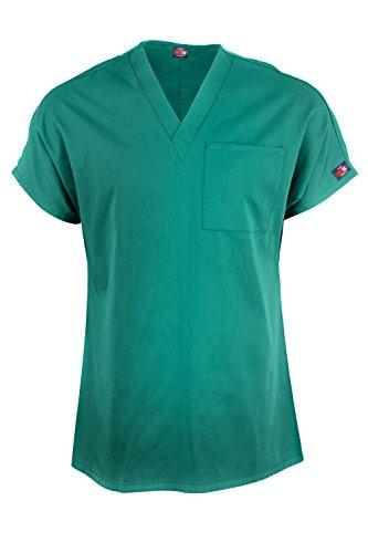 MediFit Men's Basic Solid V-Neck Medical Scrub Top(MENTOP-MED,LBL-L)