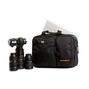 Gura Gear Chobe 19-24L Shoulder Bag Kit, VX-21 Sail Cloth Material, Concealed Real Handle Slot, Trolley Sleeve, Black