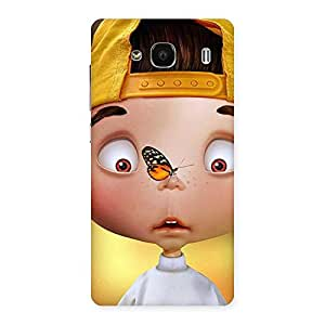 Gorgeous Confused Funny Boy Back Case Cover for Redmi 2