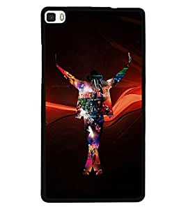 Fuson Premium King Of Pop Metal Printed with Hard Plastic Back Case Cover for Huawei P8