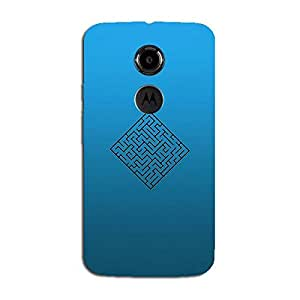 BLUE MAZE BACK COVER FOR MOTOROLA MOTO X2