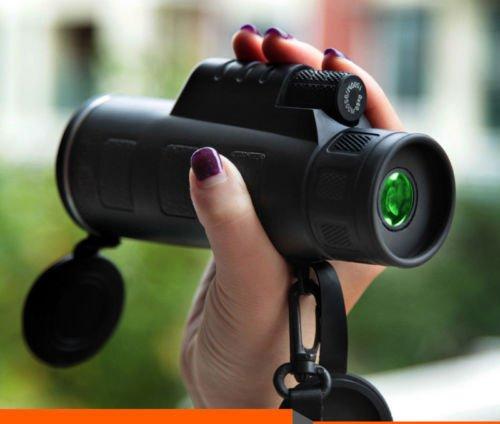 wangsaura® Portable 35x 5040x 60ZOOM Monoculaire Vision Nocturne BK4réglable Camping Voyage Télescope 40 x 60