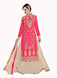 Jiya Presents Lehenga Choli(Chikoo,Pink)