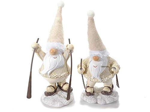 Weihnachtsmann aus Harz mit Schneeschuhe und Hut