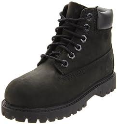 Timberland 6-Inch Premium Waterproof Boot (Toddler/Little Kid/Big Kid),Black Nubuck,2 M US Little Kid
