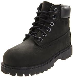 Timberland 6-Inch Premium Waterproof Boot (Toddler/Little Kid/Big Kid),Black Nubuck,5.5 M US Toddler